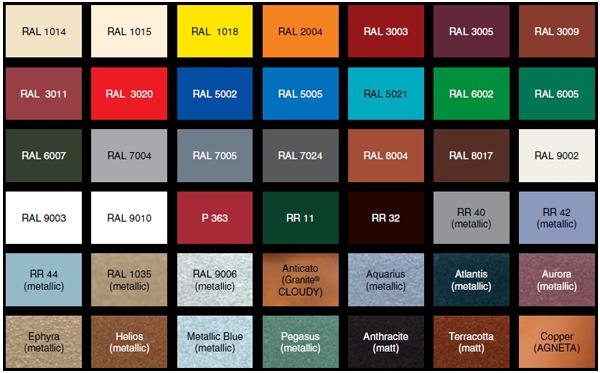 цветовая схема сайдинга
